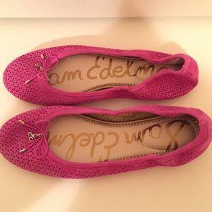 🆕 Sam Edelman hot 🔥 pink Felicia flats 🥿
